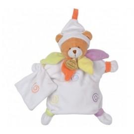 Doudou marionnette ourson avec lange - Doudou & Cie