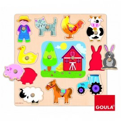 Puzzle encastrement 12 pièces Les silhouettes de la Ferme