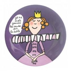 """Assiette en mélamine Princesse """"sans les coudes"""""""