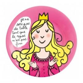 """Assiette en mélamine Princesse """"sortir de table"""""""