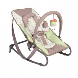 Transat simple Bubble vert amande/taupe - Babymoov