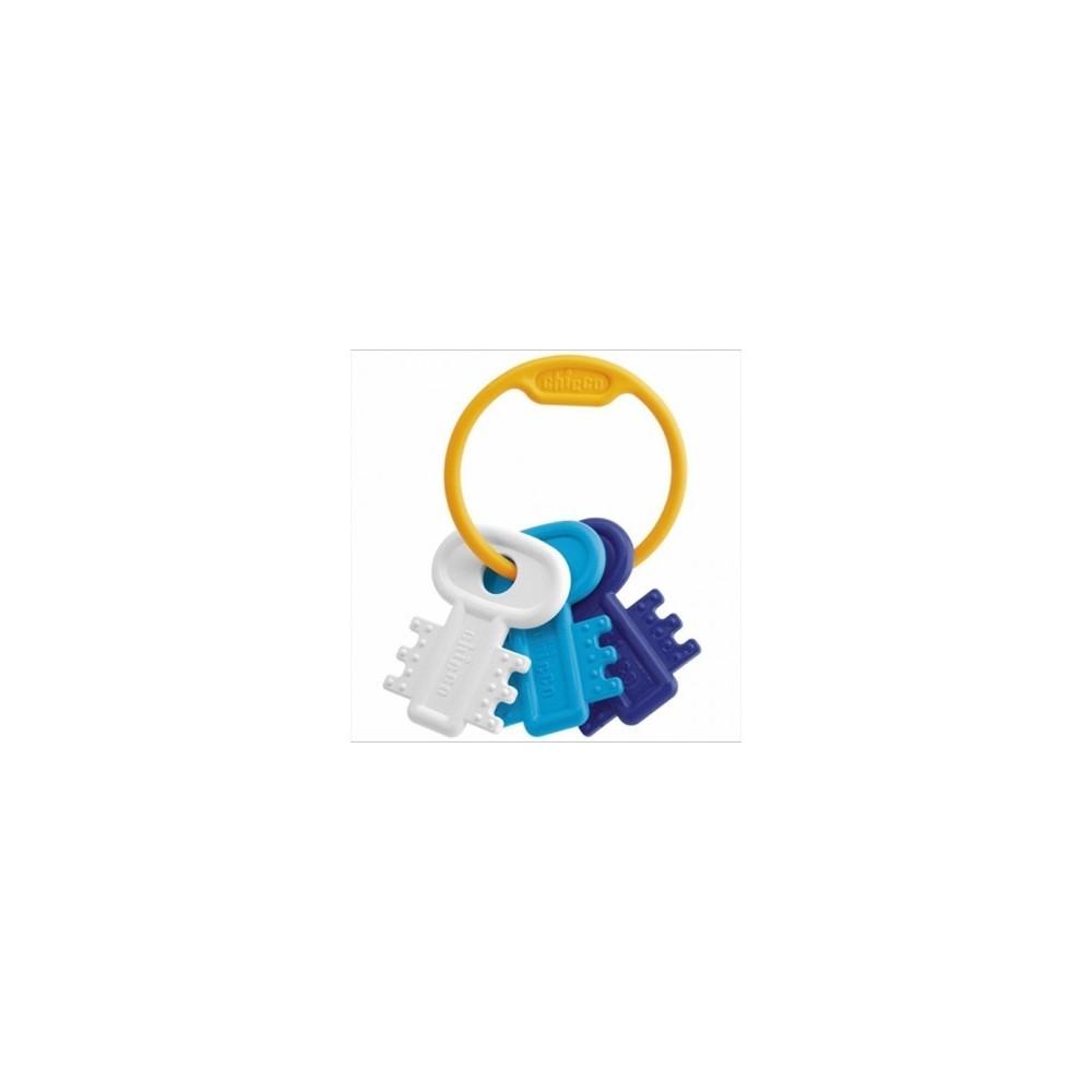 Hochet de dentition clés coloris bleu - Chicco
