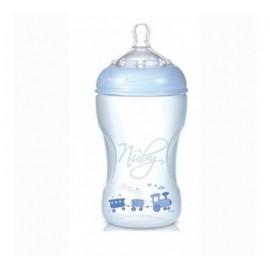 Biberon coloris bleu 240 ml sans BPA - Nuby
