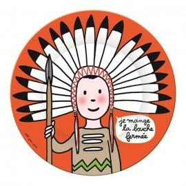 """Assiette indien """"Je mange la bouche fermée"""" - Petit Jours Paris"""