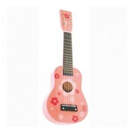 Guitare fleurs rose - Vilac