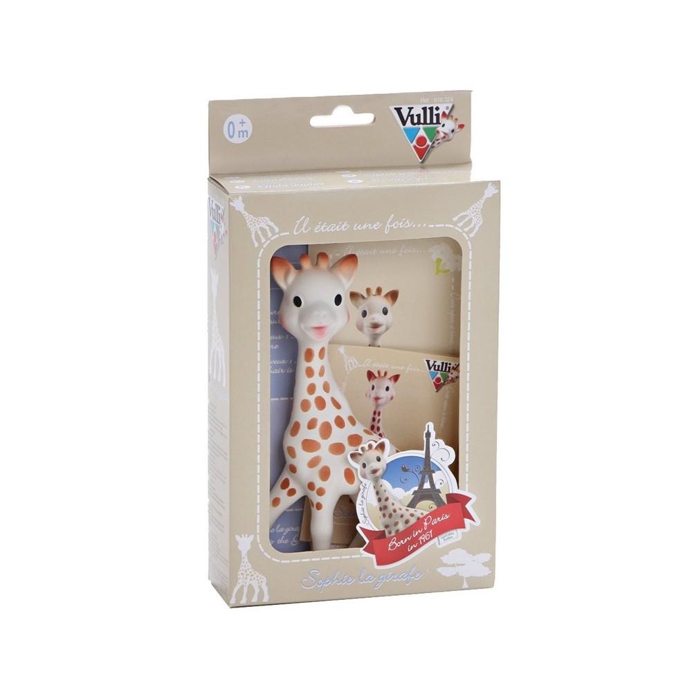 Girafe Sophie premier jouet  sous boîte cadeau  - Vulli