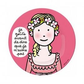 """Assiette princesse """"je goûte à tout"""" - Petit Jours Paris"""