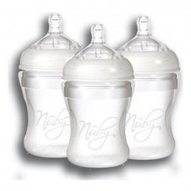 Lot de 3 Biberons souple 210 ml sans BPA - Nuby