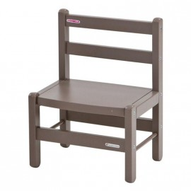 Chaise basse enfant taupe - Combelle