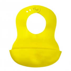 Bavoir récupérateur souple jaune - Tigex