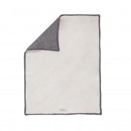 Couverture Greloudoux gris/nougat 100x140 cm - Noukies