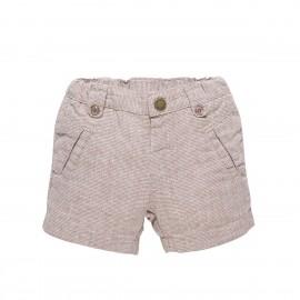 Short marron lin et coton 9 mois - Chicco
