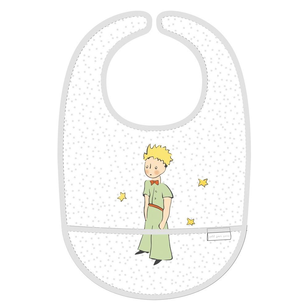 Bavoir plastifié Le Petit Prince avec poche
