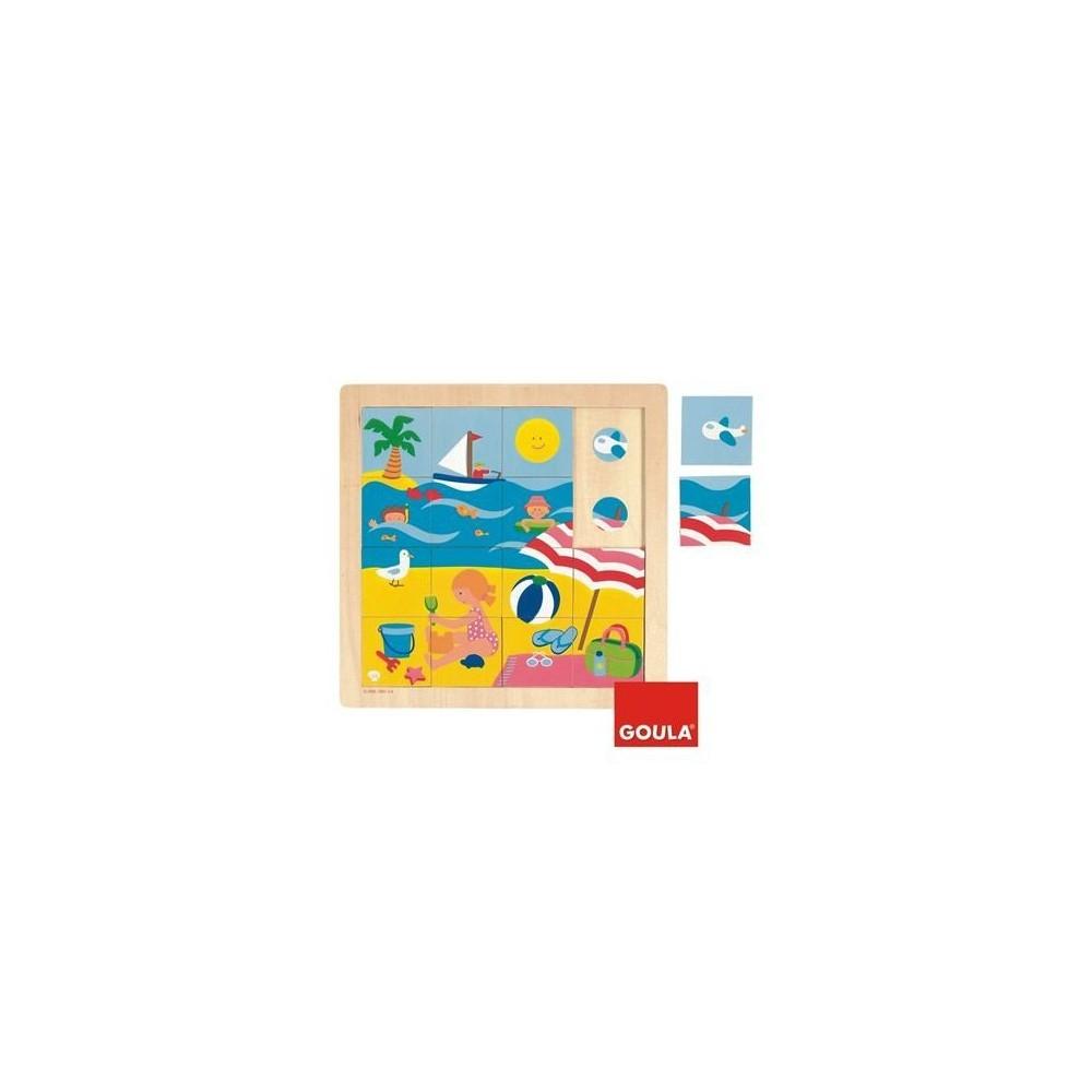 Puzzle 16 pièces thème été - Goula
