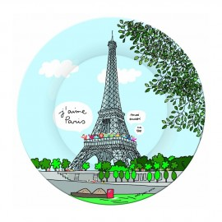 Assiette en mélamine Tour Eiffel - J'aime Paris