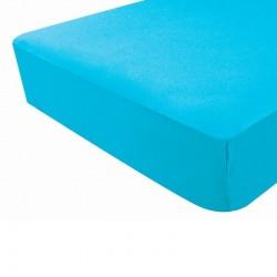 Drap housse bleu turquoise - Douxnid
