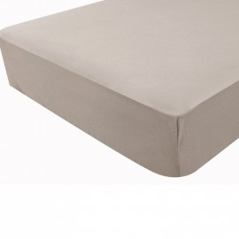 Drap housse taupe - Douxnid