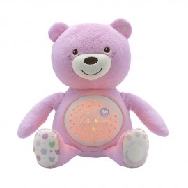 Veilleuse ourson doudou projecteur rose - Chicco