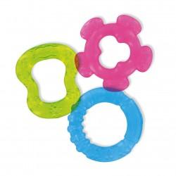 3 anneaux de dentition à rafraichir (bleu/vert/rose)