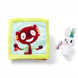 "Livre tissu ""le petit lapin dentiste"" Lilliputiens"