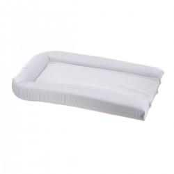 Matelas à langer en PVC blanc + 2 éponges amovibles