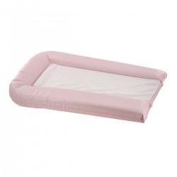 Matelas à langer en PVC rose + 2 éponges amovibles