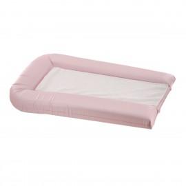 Matelas à langer en PVC rose avec deux serviettes amovibles