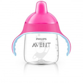 Tasse à bec souple rose 260 ml - Avent