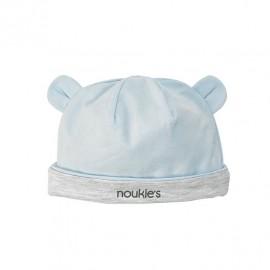Bonnet en coton bleu ciel et blanc Noukies