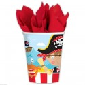 Gobelets en carton Little Pirate (lot de 8) - Amscan
