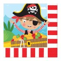 Serviettes en papier Little Pirate (lot de 16) - Amscan