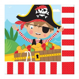Serviettes en papier modèle Pirate (lot de 16) - Amscan