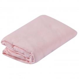 Drap housse pour lit bébé 60x120 cm coloris Light rose