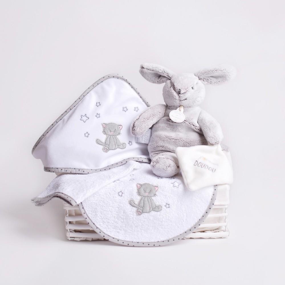 cadeau de naissance 39 panier douceur 39 la ptite grenouille. Black Bedroom Furniture Sets. Home Design Ideas