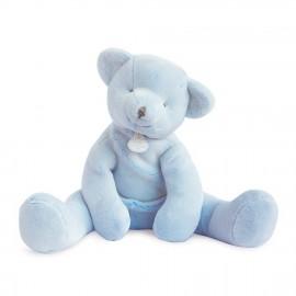 Pantin ours bleu 35 cm - Doudou et Cie