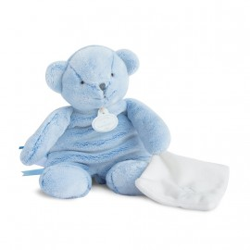 Ours pantin bleu avec doudou - Doudou et Cie