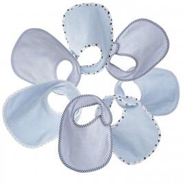 7 bavoirs naissance en éponge bleu ciel - Trois Kilos Sept