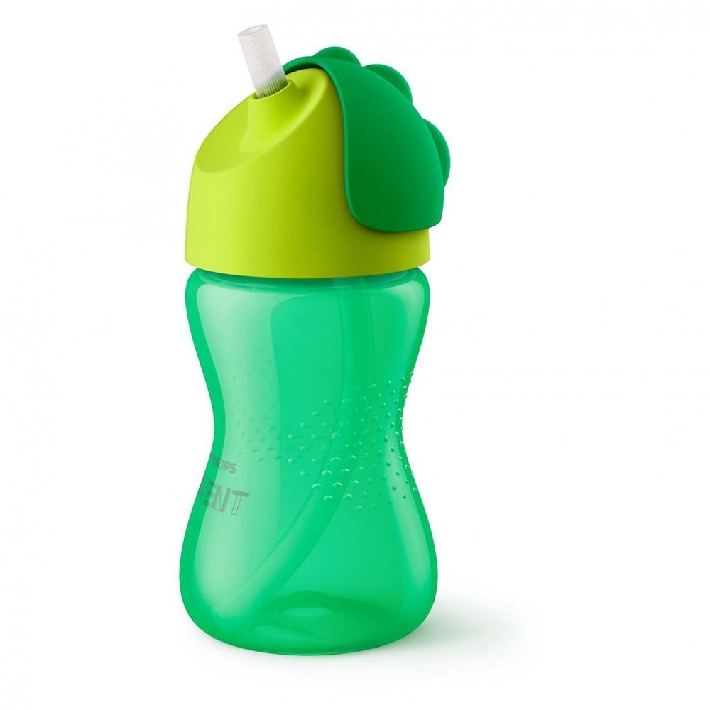 Tasse avec paille 300 ml vert - Avent