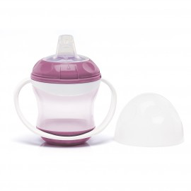 Tasse anti-fuite avec couvercle rose orchidée - Thermobaby