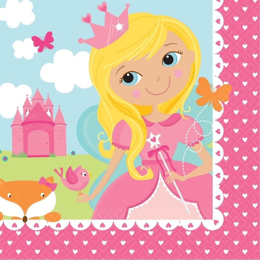 Serviettes en papier modèle Woodland Princess (lot de 16) - Amscan