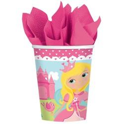 "Gobelets en carton ""Princesse"" - Amscan"
