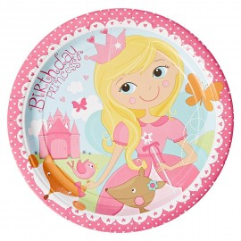 "Assiettes en carton ""Princesse"" Woodland (lot de 8) - Amscan"