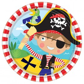 Assiettes en carton Little Pirate (lot de 8) - Amscan