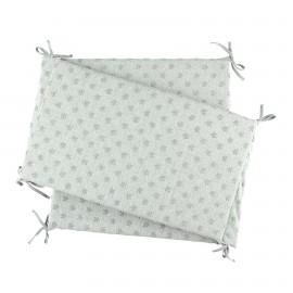 Tour de lit en jersey étoiles gris cocon - Noukies