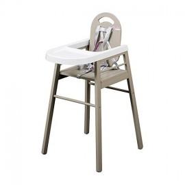 Chaise haute Lili gris clair - Combelle
