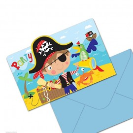 "Cartes d'invitations ""Little Pirate"" (lot de 8)  - Amscan"