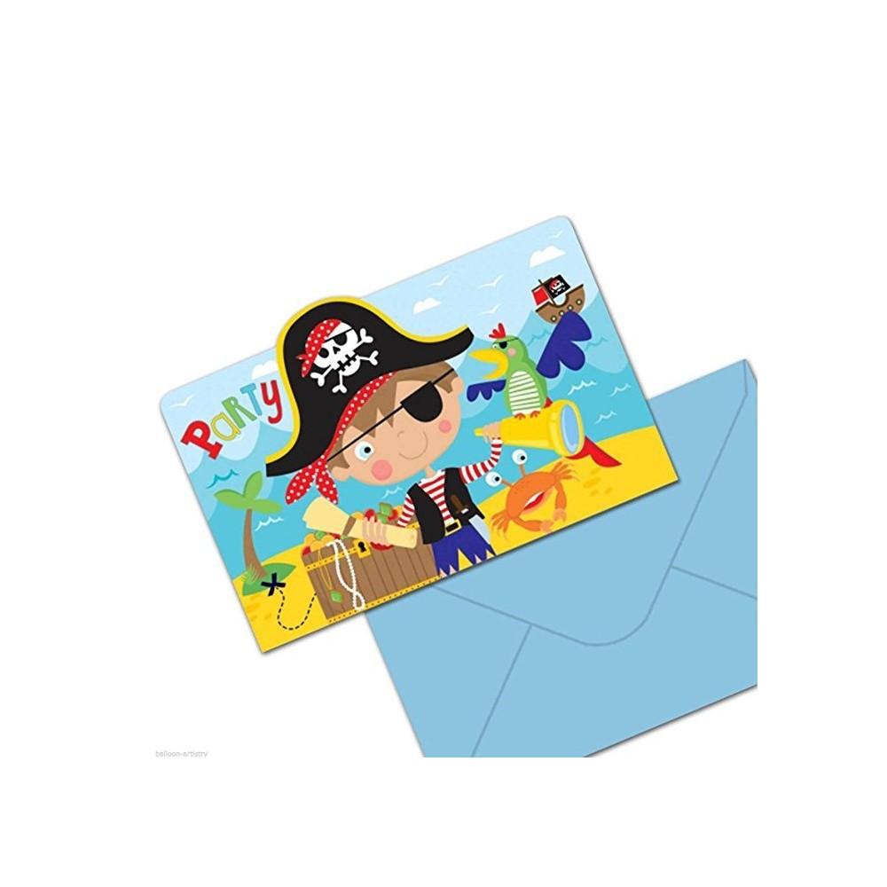 "Cartes d'invitations ""Little Pirate"" (lot de 8)  - Amscan"