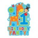 "Cartes d'invitations ""1er anniversaire"" garçon (lot de 8)  - Amscan"