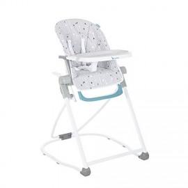 Chaise Haute Compacte Chevrons Grise - Babymoov