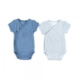 Body (lot de 2)  cache-coeur manches courtes bleu - Noukies